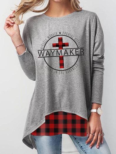 Gray Women's WAYMAKER Printed Sweatshirt LC2535020-11