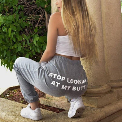 Gray Loose fitness track pants LC771115-11