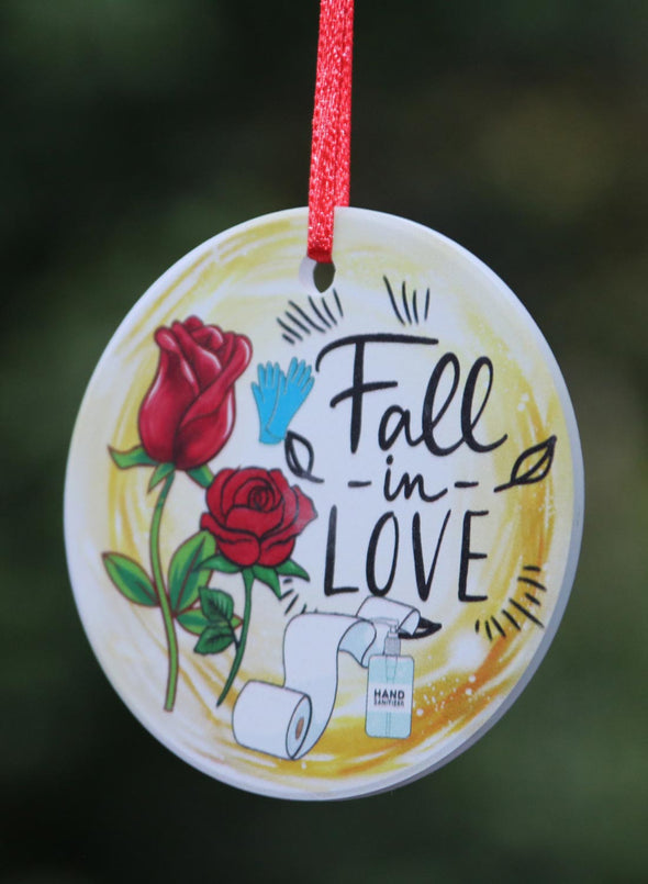 White Valentine's Day Ceramic Decoration Pendant LC011123-101