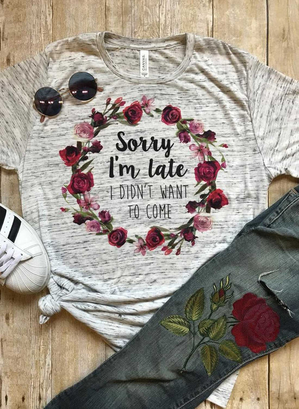 Gray Women's T-shirts Casual Floral Letter Solid Round Neck Short Sleeve Daily T-shirts LC2523216-11
