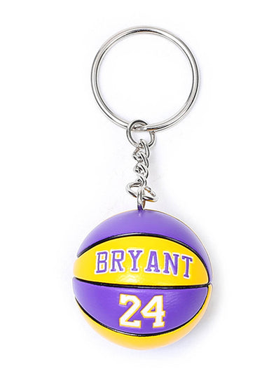 Purple Letter Number Alloy Color Block Keychain LC026003-8