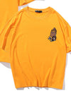 Yellow Men's T-shirts Kobe Number Solid Round Neck Short Sleeve Casual T-shirts MC252161-7