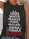 Gray Women's Tank Tops Summer Solid Casual Letter Sleeveless Round Neck Tops LC256926-11
