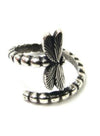 Gold Women's Rings Dragonfly Solid Rings LC011403-12