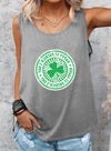 Gray Women's Tank Tops Casual Solid Summer Sleeveless Round Neck Tops LC256979-11