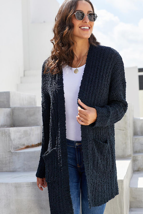 Women's Cardigans Creamy Pebble Beach Textured Cardigan
