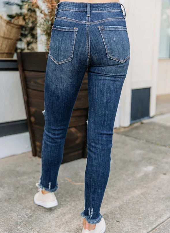 Skinny Ripped Fashionable Jeans