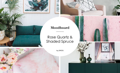 Interior Mood board: Green and Pink