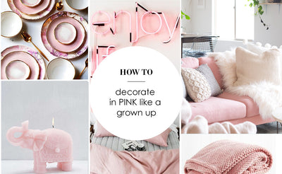 Blush pink Interior: The Grown Up way to add pink