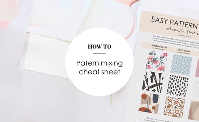 Cushion pattern mixing guide
