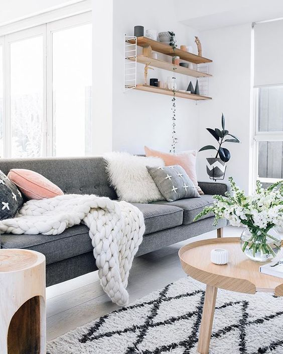 scandinavian interior cushions