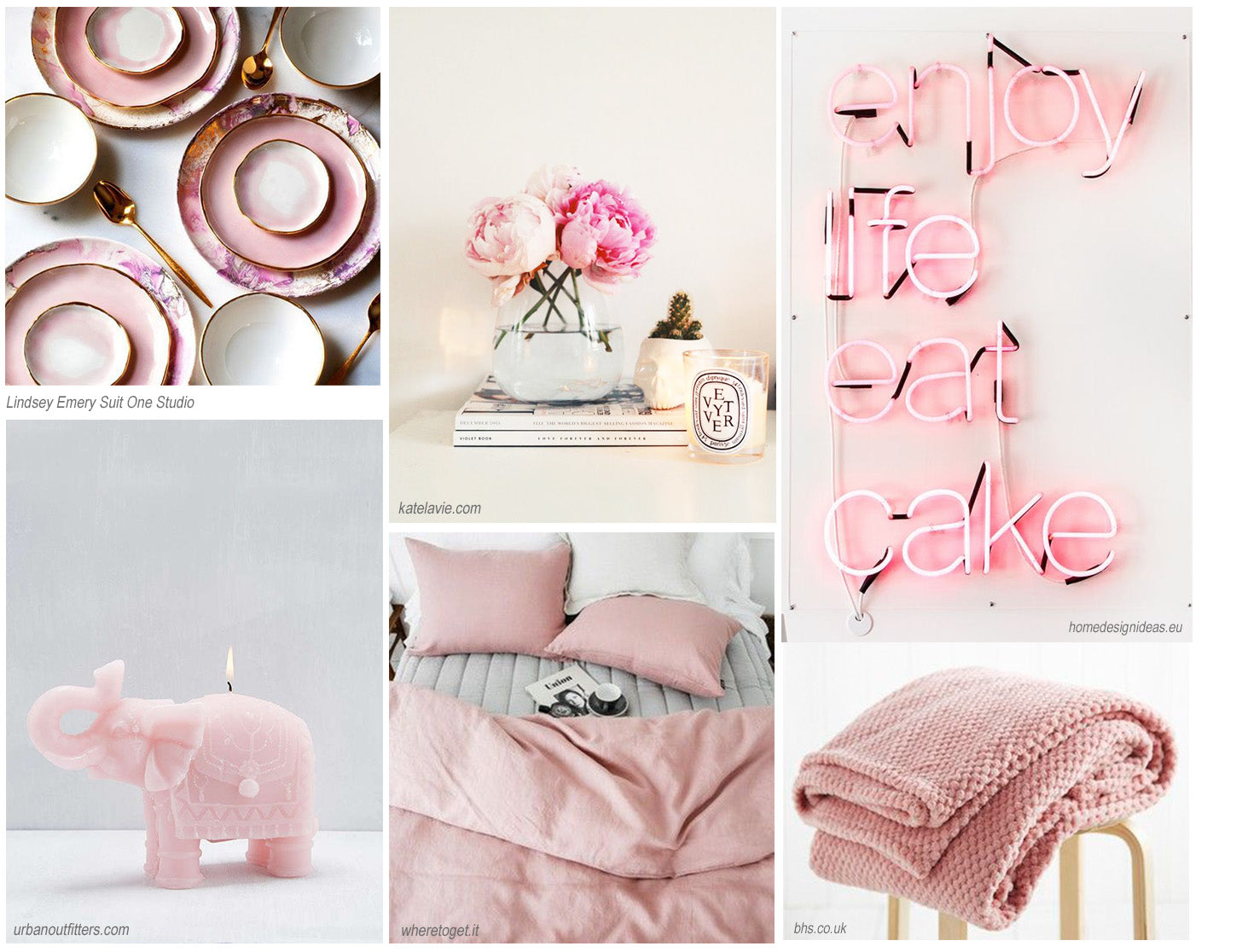 pink home accessories cushions