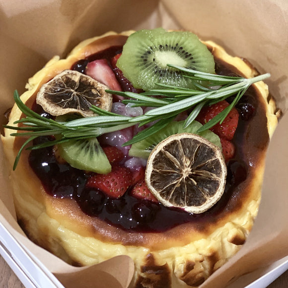 The 'Fruit Basket' Burnt Cheesecake