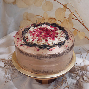 Earl Grey Raspberry Chocolate Cake