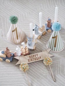 Banner Style 'Happy Birthday' Cake Topper