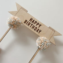 Load image into Gallery viewer, Banner Style 'Happy Birthday' Cake Topper