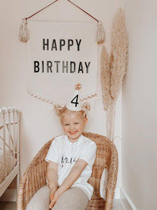 Large Boho 'Happy Birthday' Banner *Order slots available 8pm 1st June*