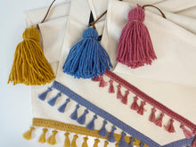 Load image into Gallery viewer, Large 'Happy Birthday' Raspberry Tassel Banner *Order slots available 8pm 1st June*