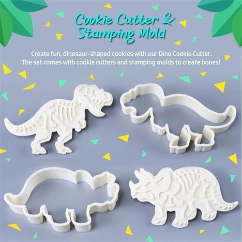 Dinosaur Shaped Cookie Cutters Mold