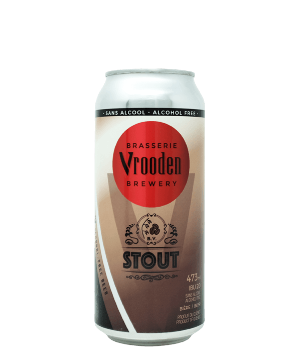 Stout Sans Alcool Vrooden 473ml