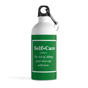 Self-Carr Green Stainless Steel Water Bottle