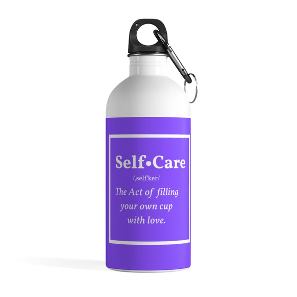 Self Care Purple Stainless Steel Water Bottle