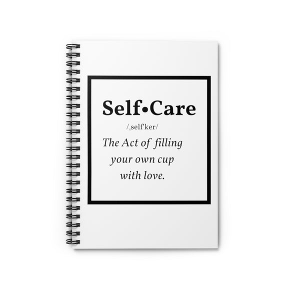 Self-Care Spiral Notebook - Ruled Line