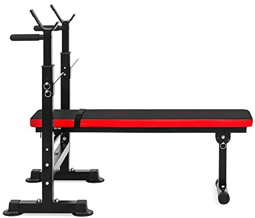Best Choice Products Adjustable Folding Fitness Barbell Rack and Weight Bench for Home Gym, Strength Training : Sports & Outdoors