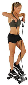 Sunny Health & Fitness Mini Stepper with Resistance Bands : Step Machines : Sports & Outdoors