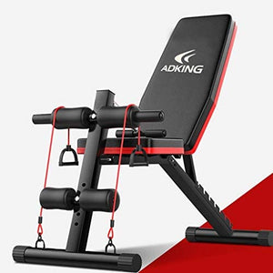 Riforla Home Gym Adjustable Weight Bench Foldable Workout Bench Sit Up AB Incline Abs Bench Flat Fly Press Fitness Rope Weight Capacity 600LBS : Sports & Outdoors