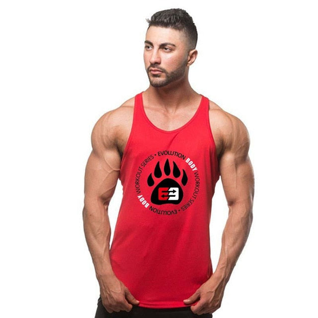 Men Bodybuilding Casual Tank