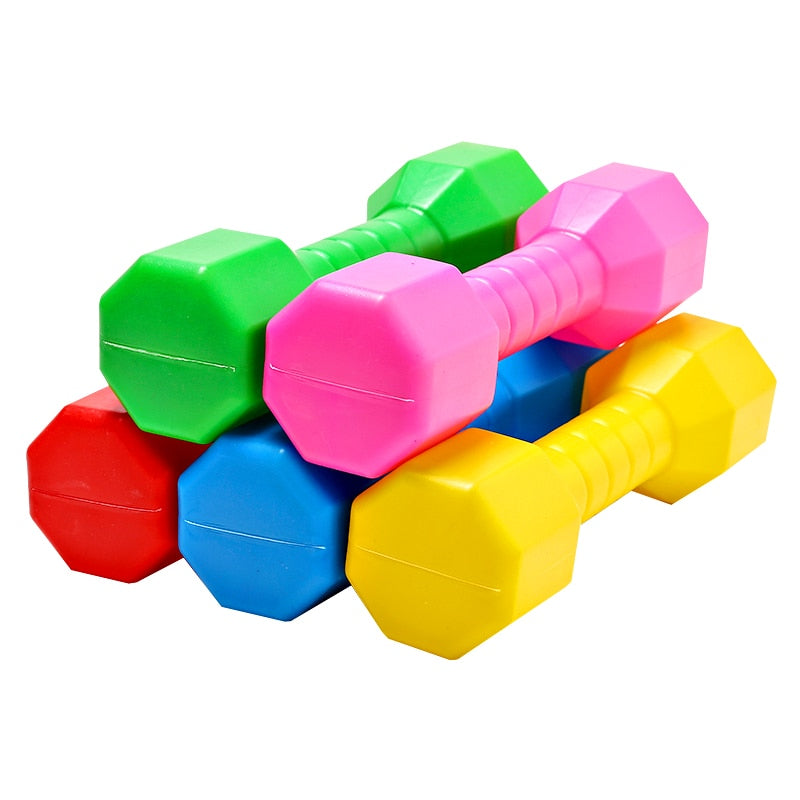 2 PCS Children Dumbbell Outdoor Plastic Fitness Equipment