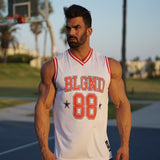 fitness men mesh tanktop
