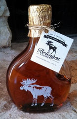 Brungot Farms Maple Syrup in a Moose Gift Bottle