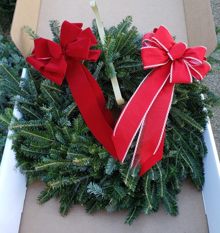 Fresh Handmade Christmas Wreath - Local Austin Delivery