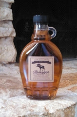 NH Pure Maple Syrup Glass Flask Bottle (Grade A Medium Amber)