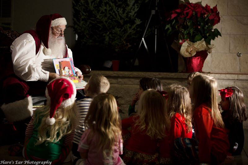 Story time at Brungot Farms Magical Evening Cookie Decorating with Santa