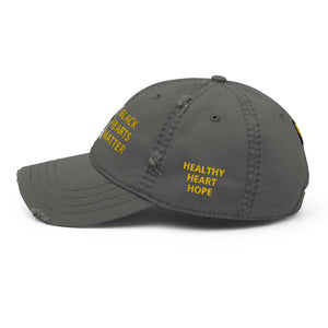 Black Hearts Matter Distressed Dad Hat