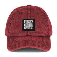 "Load image into Gallery viewer, Vintage Black Hearts Matter ""Your Heart"" Cap"