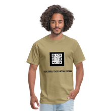 Load image into Gallery viewer, Black Hearts Matter Mens Graphic Tee - khaki