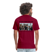Load image into Gallery viewer, Black Hearts Matter Mens Graphic Tee - burgundy