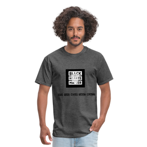 Black Hearts Matter Mens Graphic Tee - heather black