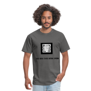 Black Hearts Matter Mens Graphic Tee - charcoal