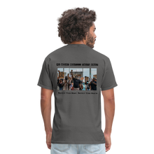 Load image into Gallery viewer, Black Hearts Matter Mens Graphic Tee - charcoal