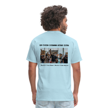 Load image into Gallery viewer, Black Hearts Matter Mens Graphic Tee - powder blue