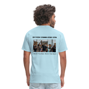 Black Hearts Matter Mens Graphic Tee - powder blue