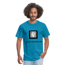 Load image into Gallery viewer, Black Hearts Matter Mens Graphic Tee - turquoise