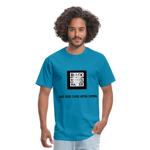 Black Hearts Matter Mens Graphic Tee - turquoise