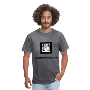 Black Hearts Matter Mens Graphic Tee - mineral charcoal gray