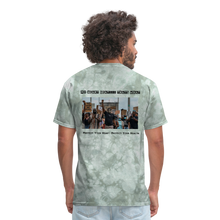 Load image into Gallery viewer, Black Hearts Matter Mens Graphic Tee - military green tie dye